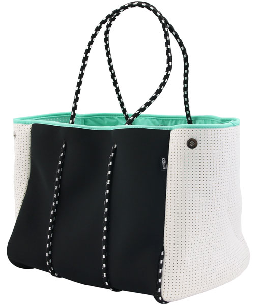 e81ef8ef04 QOGiR Neoprene Multipurpose Beach Bag Tote with Inner Zipper Pocket and  Movable Board